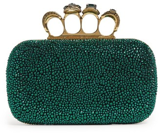 Alexander McQueen Embellished Four-Ring Clutch Bag