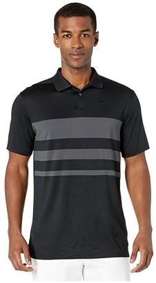 Nike Dry Vapor Polo Stripe (Black/Dark Smoke Grey/Black) Men's Clothing