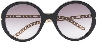 Gucci Oversized-Frame Gradient-Lenses Sunglasses