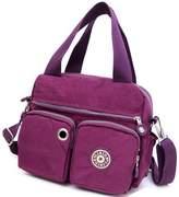 Niktest Womens Lightweight Waterproof Nylon Shoulder Top Handle Handbags