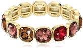 Anne Klein Skyline Recolor Gold-Tone/Red Siam Stretch Bracelet
