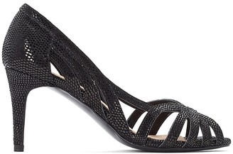 La Redoute Collections Leather Snakeskin Effect Stiletto Heel Sandals