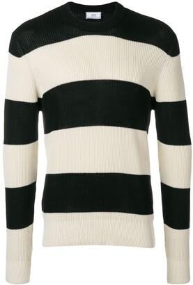 Ami Paris Striped crewneck sweater