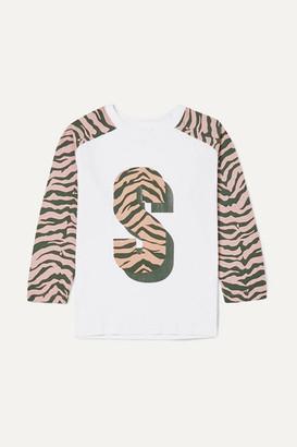 Stella McCartney Zebra-print Organic Cotton-jersey T-shirt - White