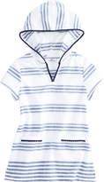 Vineyard Vines Girls Seafoam Stripe Hooded Tunic
