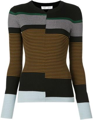 Proenza Schouler White Label Stripes Fine Gauge Rib Knit Top