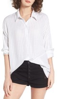 RVCA Women's Sheffield Windowpane Print Shirt