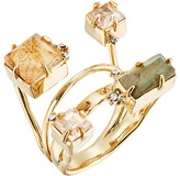 Alexis Bittar Geometric Multi Stone Ring with Satellite Crystal Detail Ring