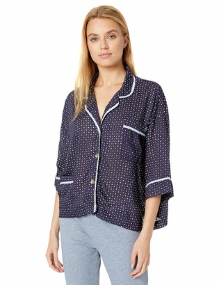 Tommy Hilfiger Women's 3/4 Sleeve Button Down Pajama Top
