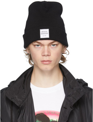Opening Ceremony Black Wool Logo Beanie