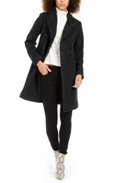 Anne Klein Double-Breasted Walker Coat
