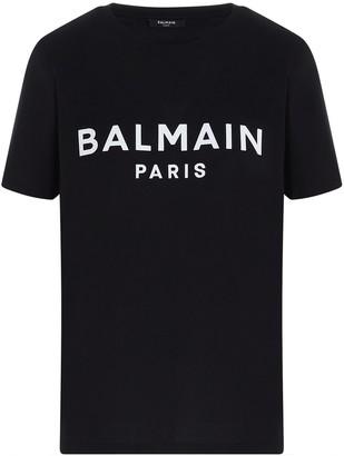 Balmain Logo Crew Neck T-Shirt