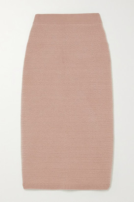 Arch4 Tower Bridge Cashmere Midi Skirt - Antique rose