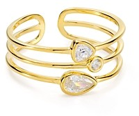 Argentovivo Layered Ring in 18K Gold-Plated Sterling Silver