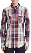BOSS ORANGE Elonge Plaid Slim Fit Button-Down Shirt