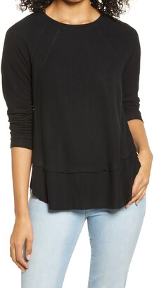 Everleigh Cozy Ribbed Inset Layered Tunic