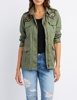 Charlotte Russe Patched Anorak Jacket