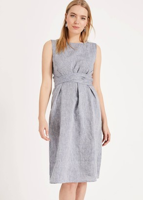 Phase Eight Cross Hatch Linen Dress