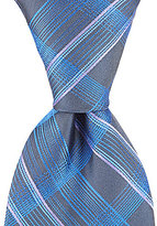 Murano Big & Tall Spike Plaid Traditional Silk Tie
