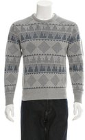 Michael Bastian Crew Neck Intarsia Sweater