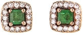 Selim Mouzannar Emerald and Diamond Beirut Stud Earrings