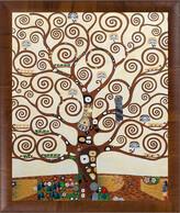 Overstock Art Tree Of Life Framed Oil Reproduction Of An Original Painting By Gustav Klimt