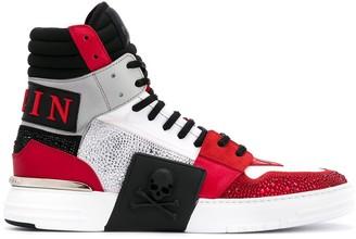 Philipp Plein Contrast Hi-Top Sneakers
