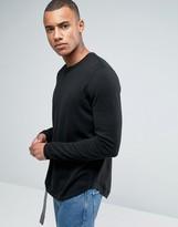 Asos Crew Neck Sweater with Curved Hem