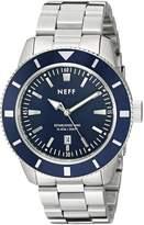 Neff Men's NF0233SLBL Pretender Analog Display Japanese Quartz Silver Watch