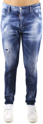 DSQUARED2 Cool Guy Jeans In Cotton Denim With Paint Splatter