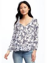 Old Navy Patterned Swing Blouse for Women