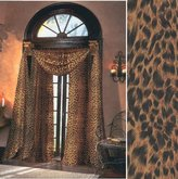 Leopard Sheer Curtains, 59 inches wide by 84 inches long panel curtain