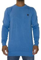 Voi Jeans New Mens Designer Crew Neck Jumper Harris Blue
