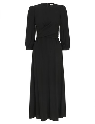 Zimmermann Wrap Front Midi Dress