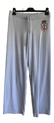 Juicy Couture Blue Cotton Trousers