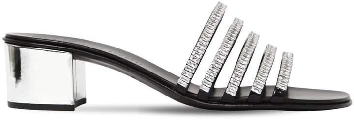 Giuseppe Zanotti Design 40mm Crystal & Patent Leather Sandals