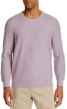 The Men's Store at Bloomingdale's Tipped Textured Crewneck Sweater - 100% Exclusive