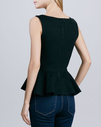 Alice + Olivia Sleeveless Peplum Tank