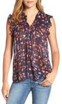 Lucky Brand Women's Flutter Sleeve Top
