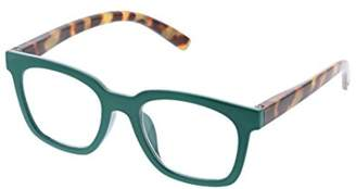 To The Max Peepers Women's Emerald/tortoise 2517000 Square Reading Glasses