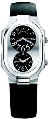 Philip Stein Teslar 2-g-fb-rbLadies WatchAnalogue QuartzBlack DialBlack Leather Strap