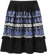 Suno embroidered skirt