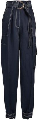 Shona Joy Ellington Linen-Blend Utility Pants