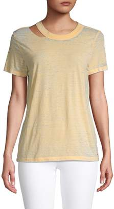 n:philanthropy Cut-Out Faded Tee