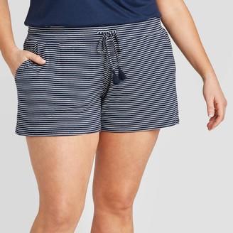Stars Above Women's Plus Size Striped Beautifully Soft Pajama Shorts - Stars AboveTM