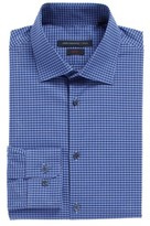 John Varvatos Men's Slim Fit Stretch Check Dress Shirt