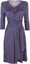 Wallis **Jolie Moi Blue Geometric Print Midi Dress