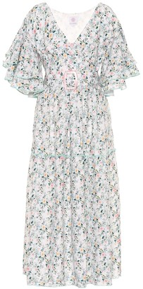 Gül Hürgel Floral linen dress