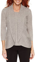 Sag Harbor 3/4 Sleeve Layered Sweaters