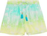 Matthew Williamson Printed silk-crepe shorts